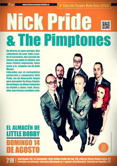 Nick Pride & The Pimptones en Little Bobby, Santander