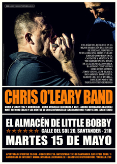 Chris O'Leary Band en Santander